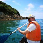 人生初カヌーを海で!