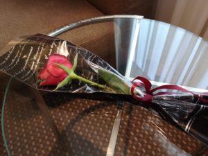 岡山国際ホテルからバラのプレゼント
