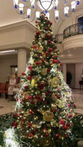ホテルトラスティ 心斎橋のクリスマスツリー