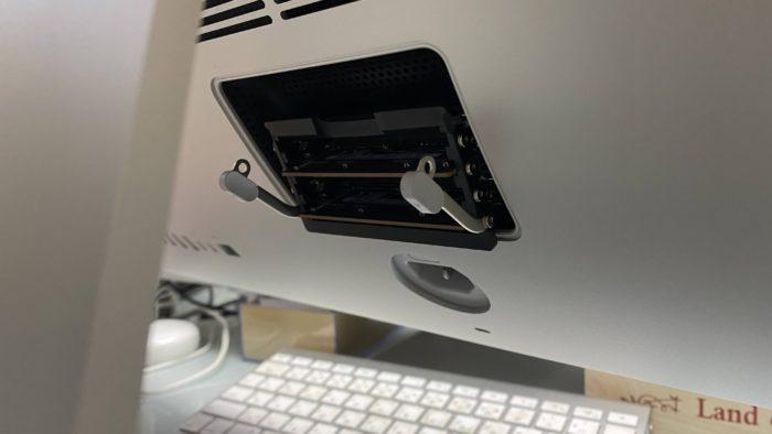 iMac2020 メモリーボックス開け方