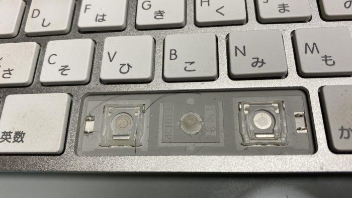 キーボードの分解