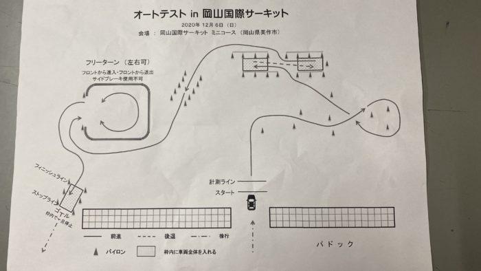 オートテストin岡山国際サーキット2020 コース図