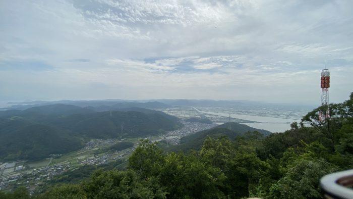 金甲山山頂展望台から岡山平野を眺める